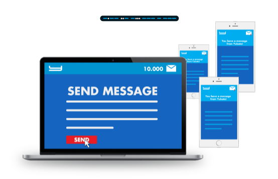 Communicate using one of the most modern and effective means of mass and in the same time personalized communication: Bulk SMS!