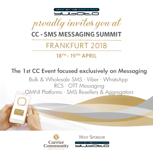 Yuboto as Lead Sponsor at the 1st CC - SMS Messaging Summit