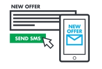 Direct mass communication with customers via SMS!