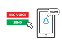 Inform your supporters and associates with voice messages