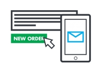 Direct information about online orders via SMS